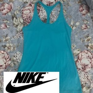 NIKE dri fit racer back tank top teal green S